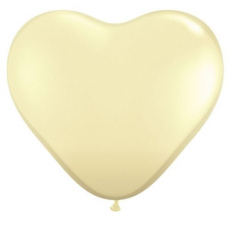 Balónik srdce Ivory Q 11´´ HRT Ivory Silk