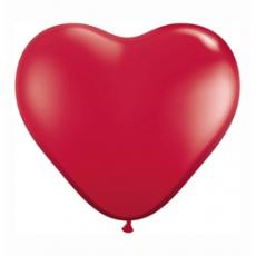 Balón srdce tmavo červená Q 11´´ HRT Ruby Red