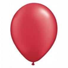 Balónik metalický tmavo červený 28cm Ruby Red PRL