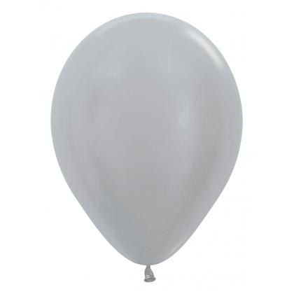Balón metalický Strieborný 481