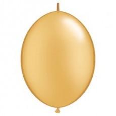 Balón naväzovací Qlink 12´´ Zlatý