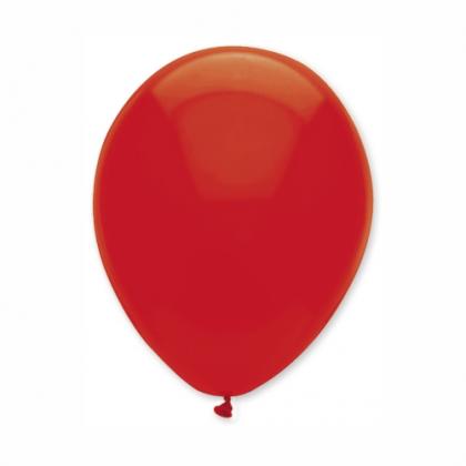 Balón Červený priehľadný s126 S10 - 26 cm