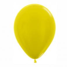 Balón metalický Žltý 520 R12 - 30cm