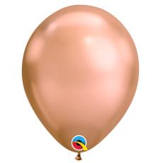 Balón metalický rose gold Chrome