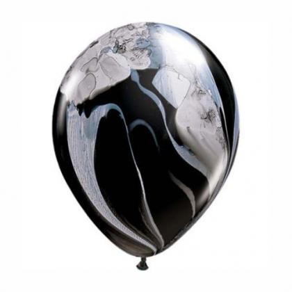 Balón čierno biely dúhový 28cm Black & White