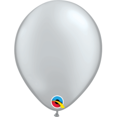 Balón metalický strieborný Q 5´´ Silver