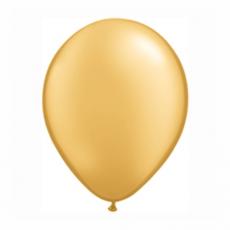 Balónik metalický zlatý 28cm Gold