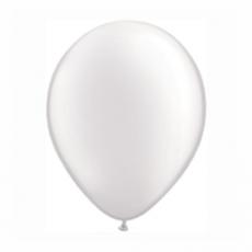 Balónik metalický biely 28cm White PRL