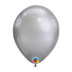 Balón metalický strieborný Chrome Silver 28cm