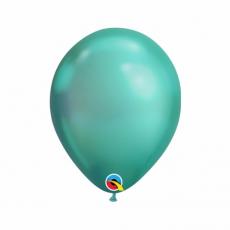 Balón metalický zelený Chrome Green Q7 - 18cm