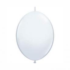Balón Biely naväzovací Qlink 6´´