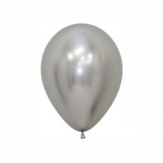 Balón Strieborný reflex R5 - 13cm