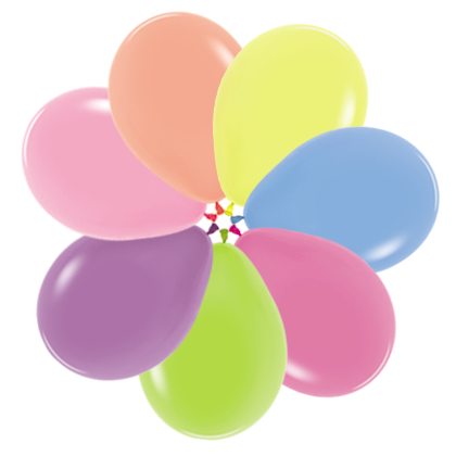 Balóniky AF70 mix neon 18cm