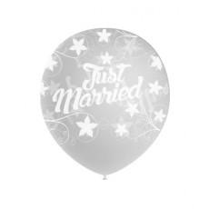 Balón Just Married priehľadný