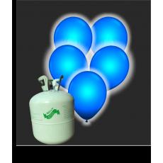 Hélium B50 + 30 ks balónov s LED modrým svetlom