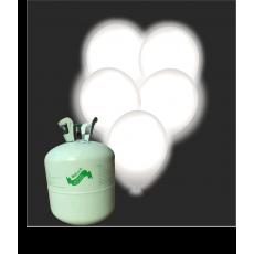 Hélium B50 + 30 ks balónov s LED bielym svetlom