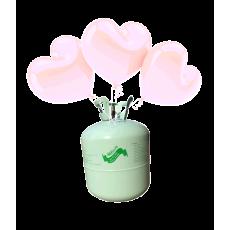Hélium B50 + 30 ks srdiečkových balónov - ružových