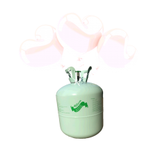 Hélium B50 + 30 ks srdiečkových balónov - bielych