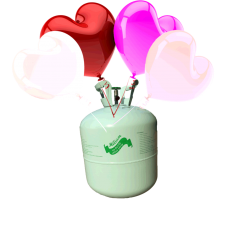 Hélium B50 + 30 ks srdiečkových balónov - mix
