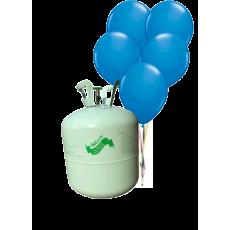 Hélium B50 na 50 bal. + 50 ks balónov - modré
