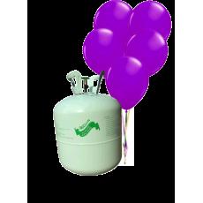Hélium B50 na 50 bal. + 50 ks balónov - fialové