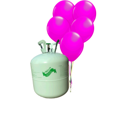 Hélium B50 na 50 bal. + 50 ks balónov - ružová tm.
