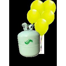 Hélium B50 na 50 bal. + 50 ks balónov - žlté