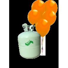 Hélium B50 na 50 bal. + 50 ks balónov - oranžové