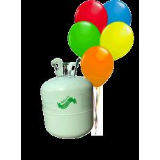 Hélium B30 na 30 ks balónov + 30 ks balónov mix