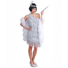Kostým Charleston Tanečnice strieborný