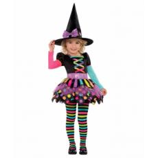 Dievčenský kostým Čarodejnica bodky