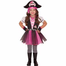 Detský kostým Pirátka ružová