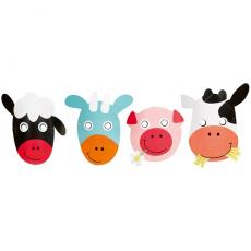 Papierové masky Zvieratká - Farma