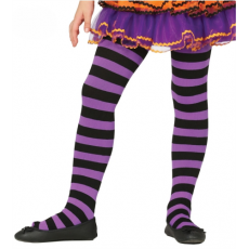 Detské pančuchy fialové pásiky