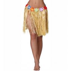 Havajská sukňa žltá 45 cm