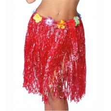 Havajská sukňa červená 50 cm