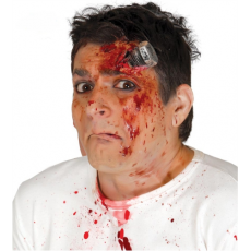 Imitácia rany - skrutka v hlave