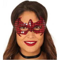 Pavúčia maska červená
