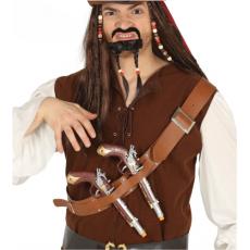 Pirátsky opasok s 2 pištoľami