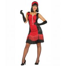 Kostým Charleston Tanečnice červený