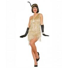 Kostým Charleston Tanečnice zlatý
