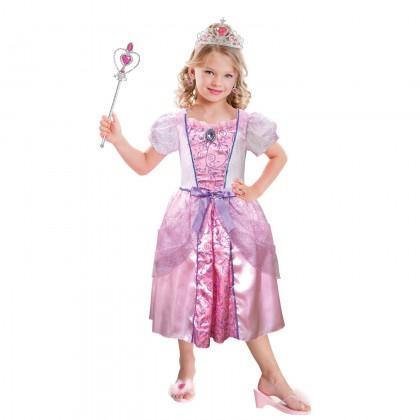 Dievčenský kostým Princezná ružová