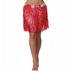 Havajská sukňa červená 45 cm