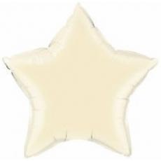 Balón Hviezda Krémová 45 cm