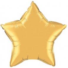 Balón hviezda Zlatá 45 cm