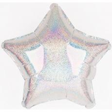 Balón hviezda holografická 45 cm