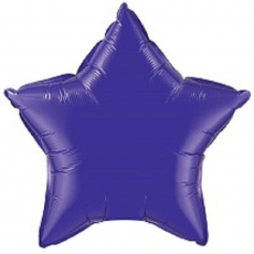 Balón Hviezda Tm. Fialová 45 cm
