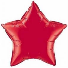 Balón hviezda Červená