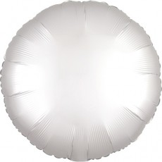 Balón Kruh biely saténový 45 cm