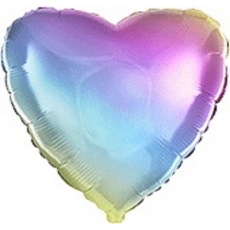 Balón Srdce dúhové 45 cm